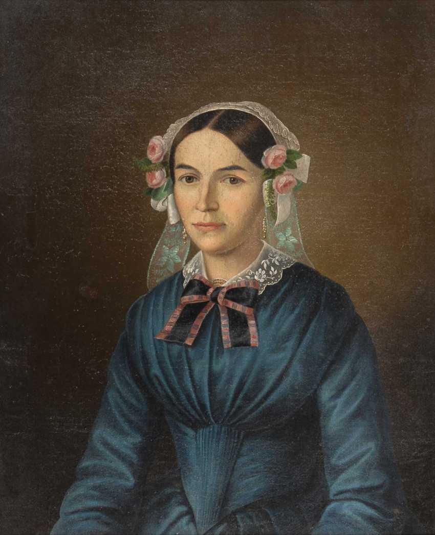 Biedermeier's Portrait Of A Lady. - photo 1