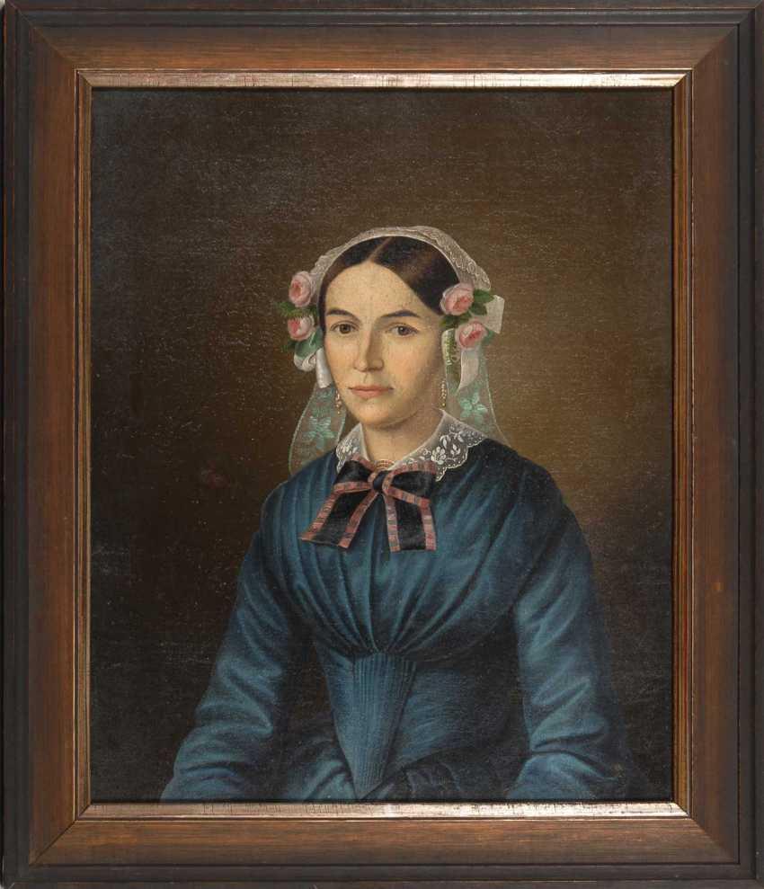 Biedermeier's Portrait Of A Lady. - photo 2