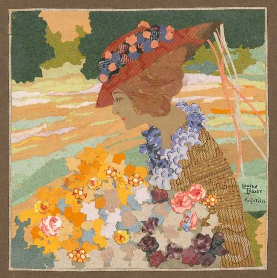 Bosse, Louise: woman with bouquet of flowers. - photo 1