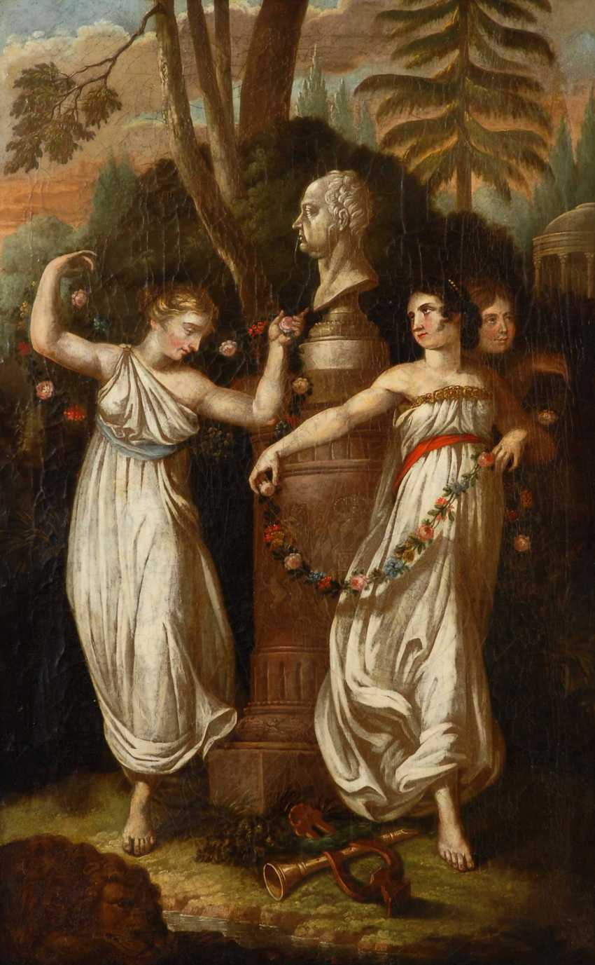 The three graces in worship of the king Maximil - photo 1