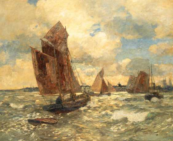 Dirks, Andreas: ships in front of the island of Sylt. - photo 1