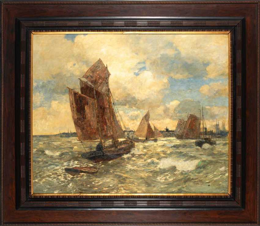 Dirks, Andreas: ships in front of the island of Sylt. - photo 3