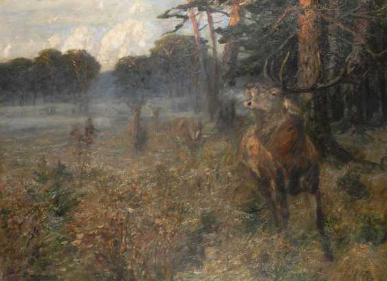 Dombrowski, Carl Ritter von: deer on - photo 1