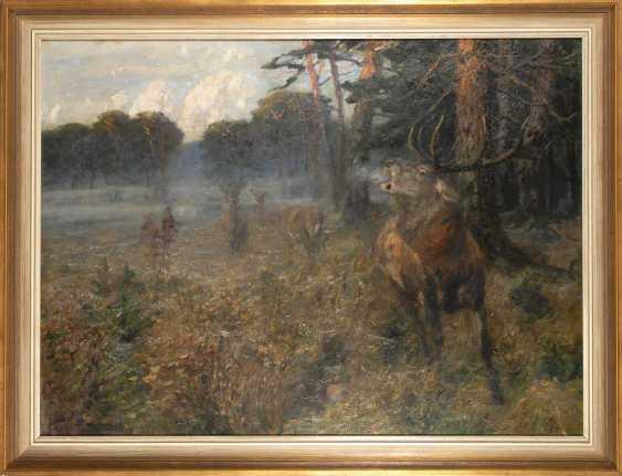 Dombrowski, Carl Ritter von: deer on - photo 3