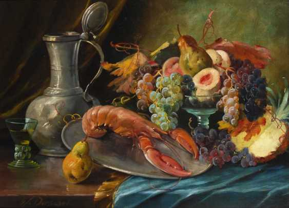 Dorschel, Wilhelm: still life with fruits and vegetables. - photo 1