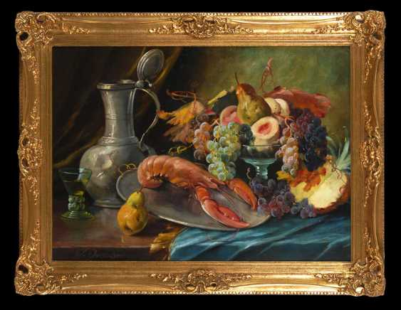 Dorschel, Wilhelm: still life with fruits and vegetables. - photo 2