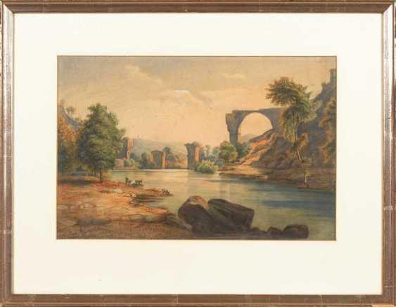 River landscape with bridge at Narni. - photo 2