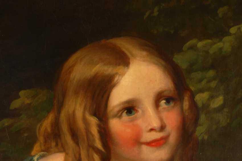 Large Biedermeier Children's Portrait. - photo 2