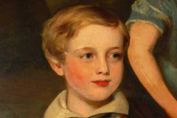 Large Biedermeier Children's Portrait. - photo 4