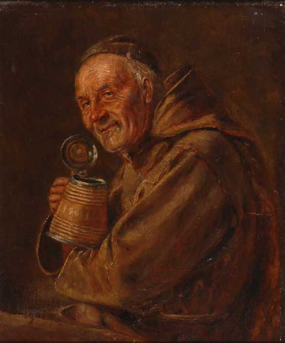 Grützner, Eduard von: Drinking monk. - photo 1