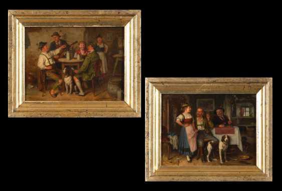 Heine, Johann Adalbert: Two Genre Scene - photo 1