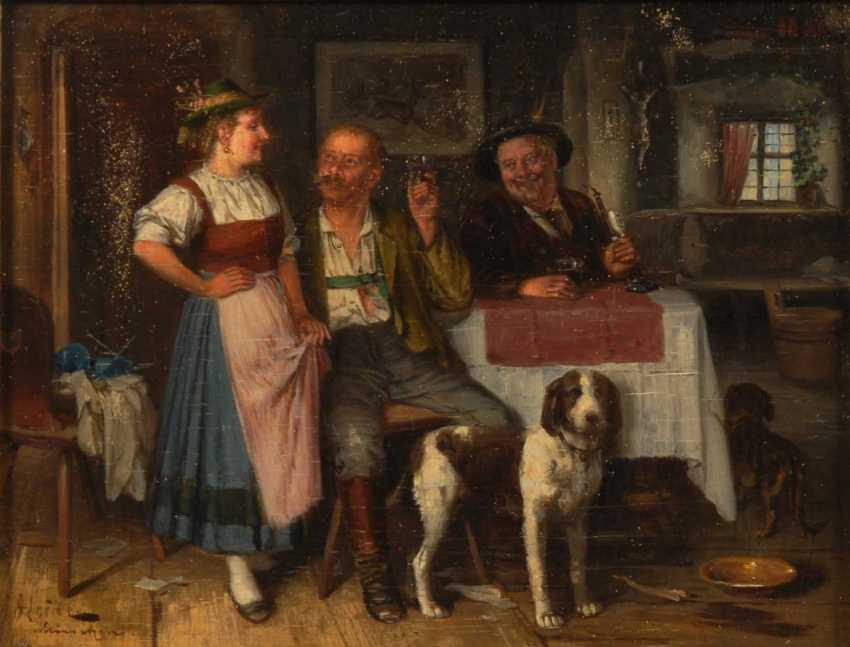 Heine, Johann Adalbert: Two Genre Scene - photo 5