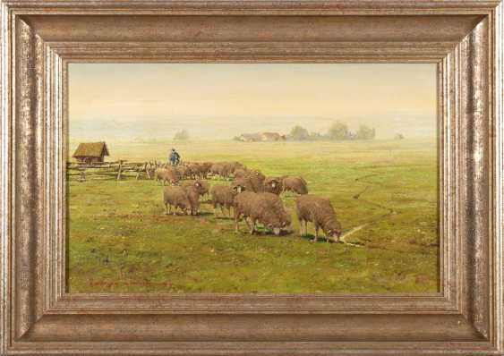 Hiller-Baumann, Leonore: flock of sheep on the - photo 2