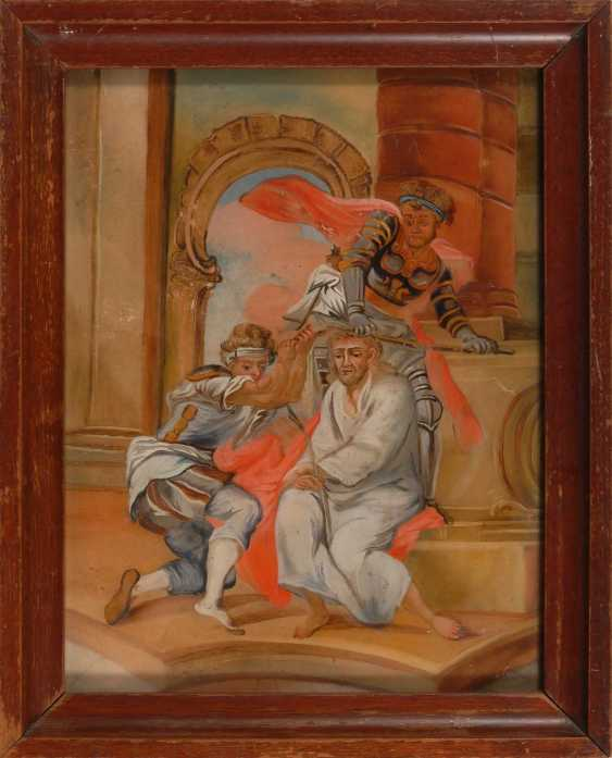 Behind the glass of the picture of Christ and his Peini - photo 2