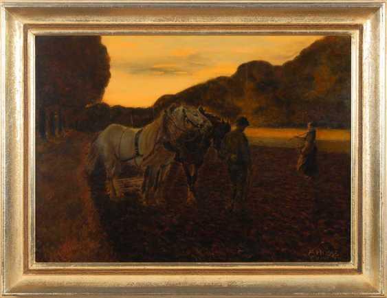 Hosse, Adolf: Ploughing Farmers. - photo 2