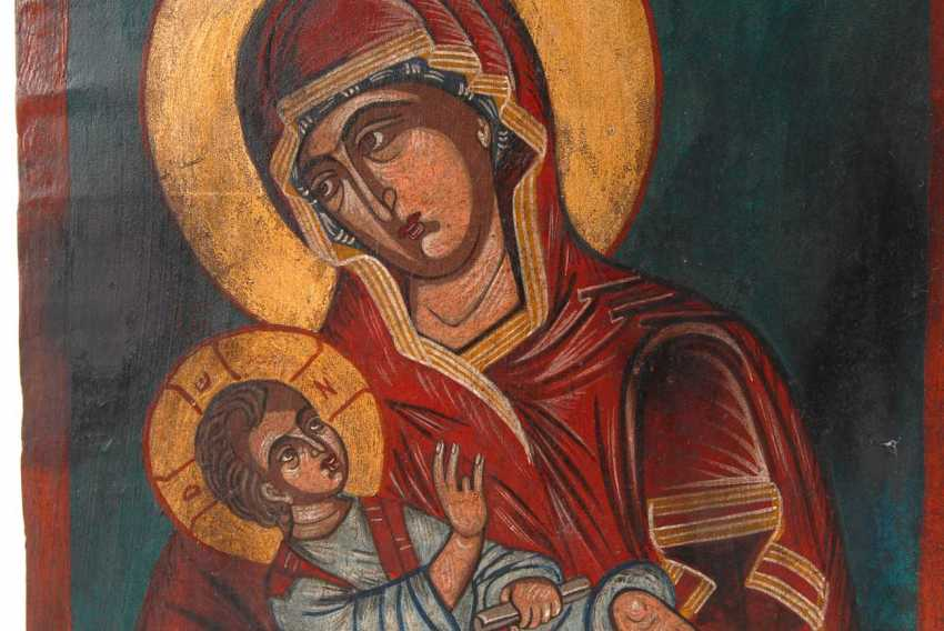 Icon with Mary and child. - photo 3