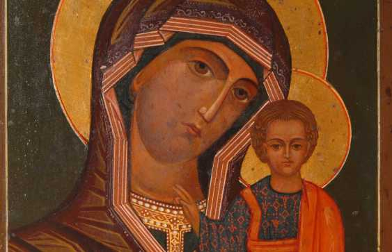 Icon with Mary and child. - photo 2