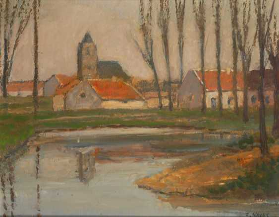 Kocks, Fred, diameter: river landscape with a town. - photo 1