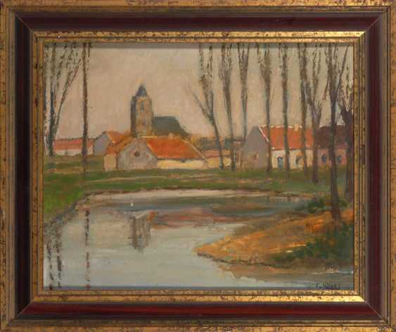 Kocks, Fred, diameter: river landscape with a town. - photo 2