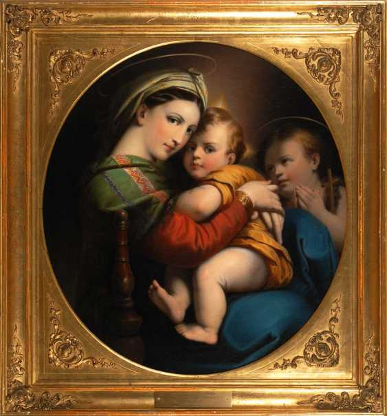 Copy to RaffaeLänge: Madonna della Sedia - photo 3
