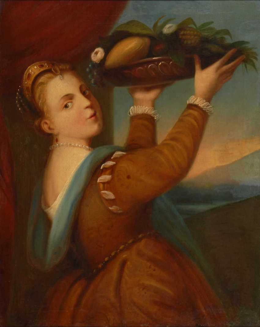 Copy after Titian: the girl with the Fruc - photo 1