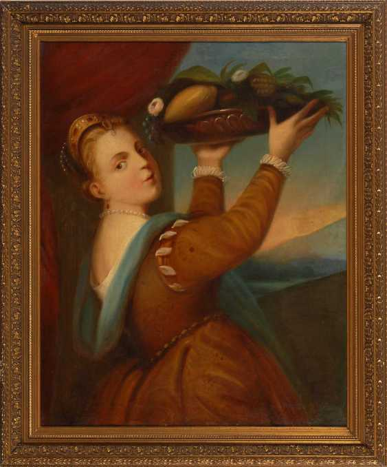 Copy after Titian: the girl with the Fruc - photo 2