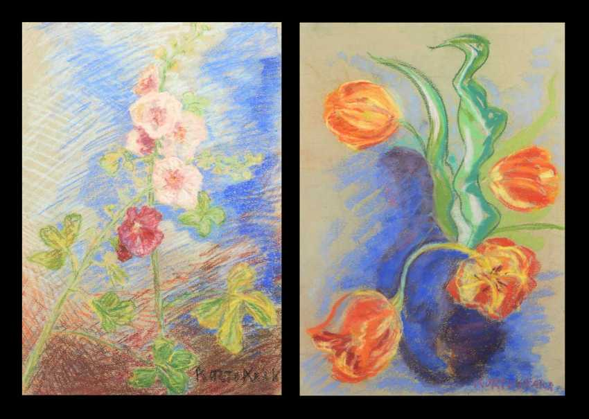 Kortokraks, Rudolf: Two Flower Pieces. - photo 1