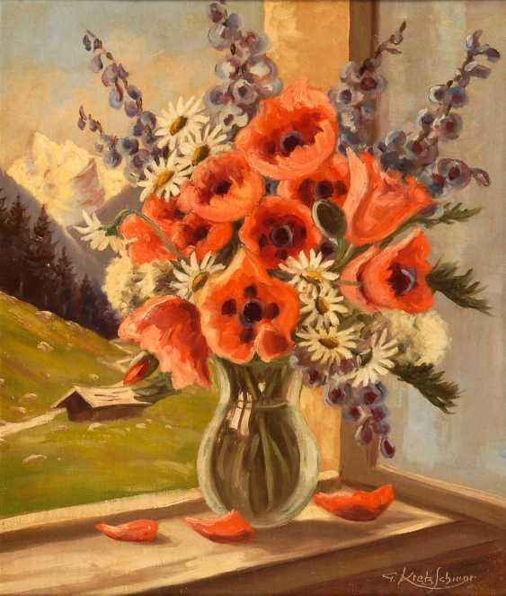 Kretzschmar, G.: bouquet of flowers on the window - photo 1