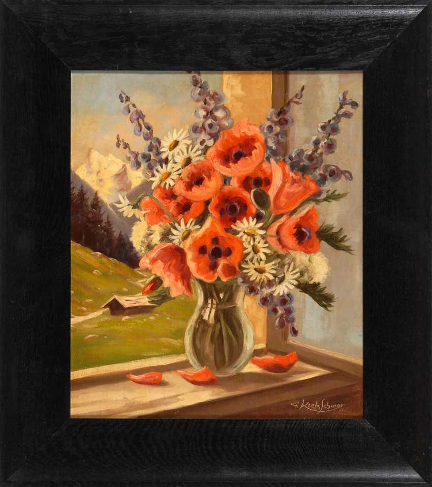 Kretzschmar, G.: bouquet of flowers on the window - photo 2