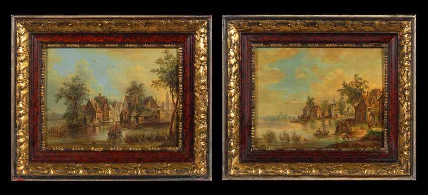 Landschaftsmaler 2. Hälfte 18. JahrhunderTiefe: Zwe - photo 1