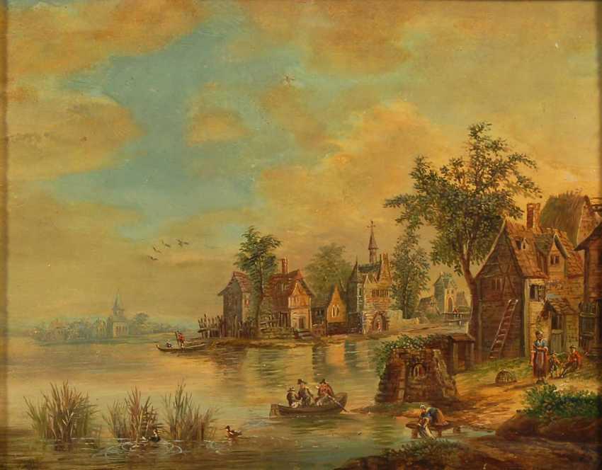 Landschaftsmaler 2. Hälfte 18. JahrhunderTiefe: Zwe - photo 3