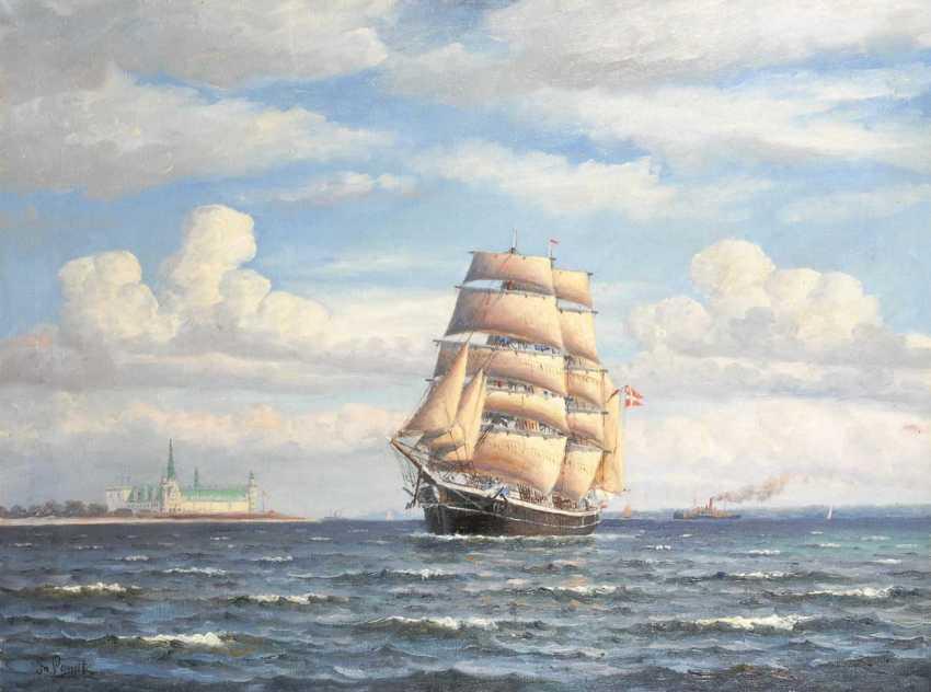 Landt, Frantz: ships in front of Kronborg. - photo 1