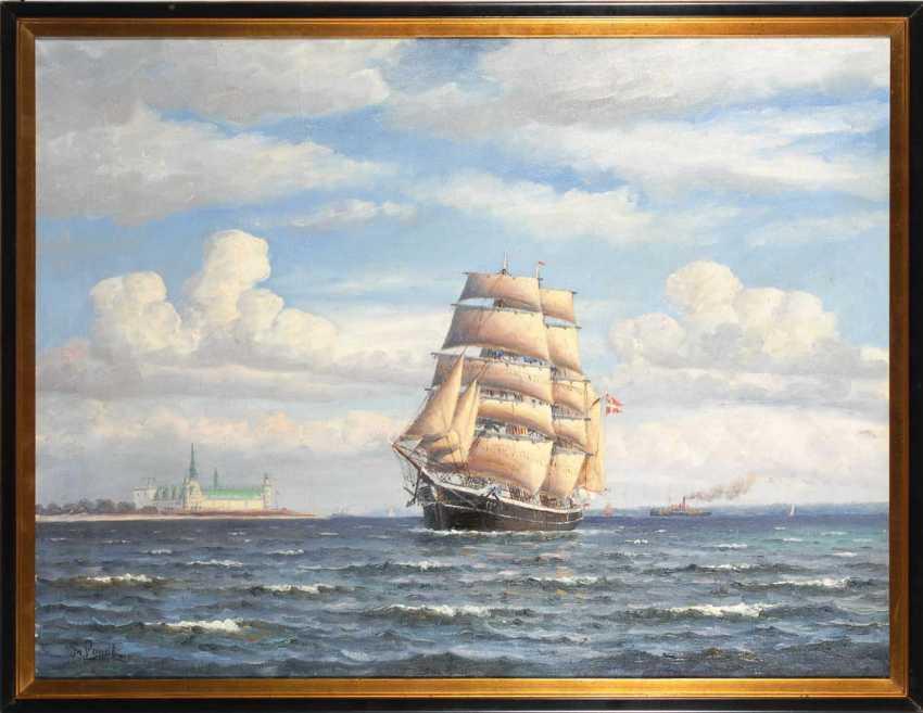 Landt, Frantz: ships in front of Kronborg. - photo 3