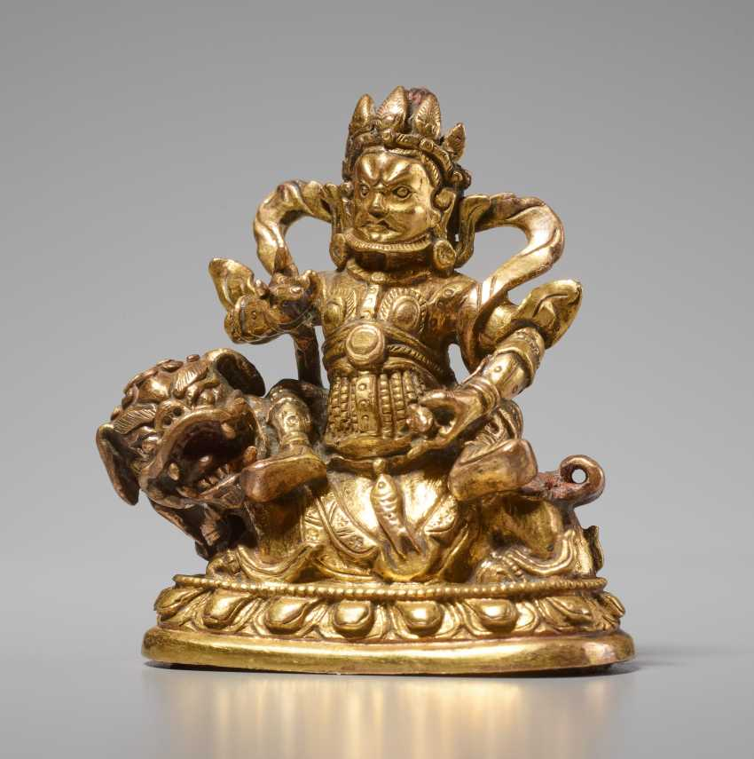 VAISHRAVANA - THE KEEPER OF THE TREASURES ON HIS LION - photo 1