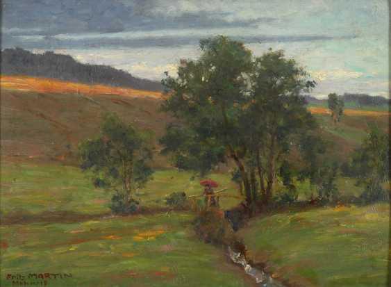 Martin, Fritz: summer landscape with Bac - photo 1