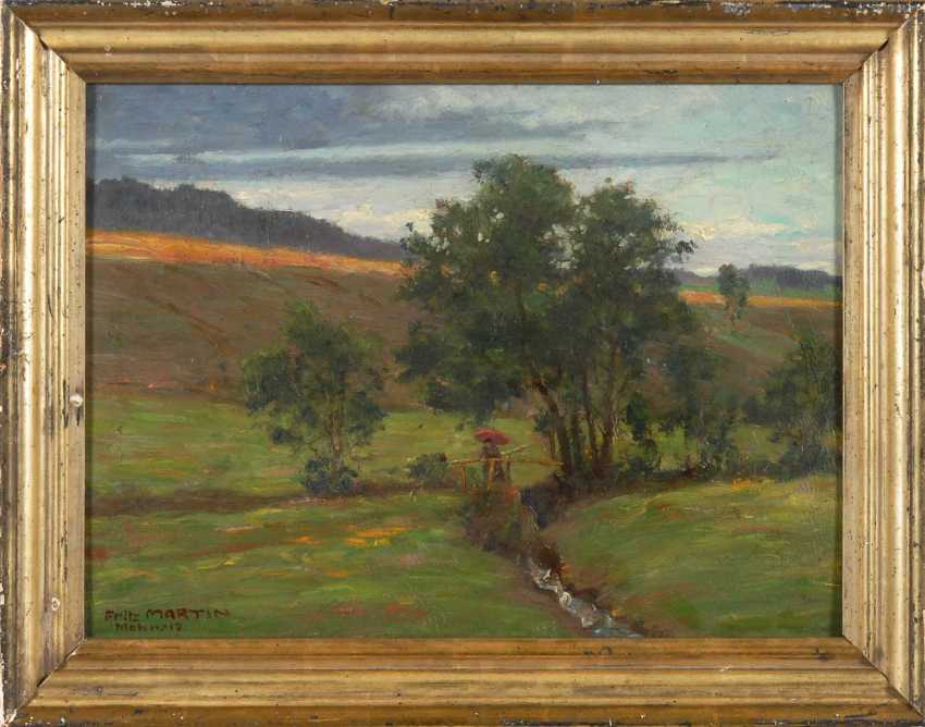 Martin, Fritz: summer landscape with Bac - photo 3
