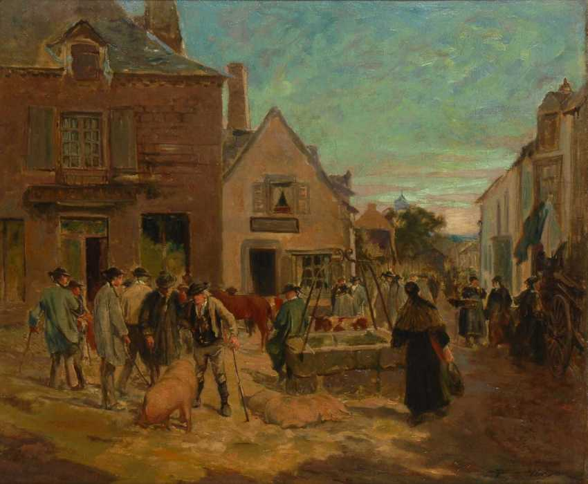 Midy, Arthur: Markt in Le Faouët/twin houses brittany - photo 1