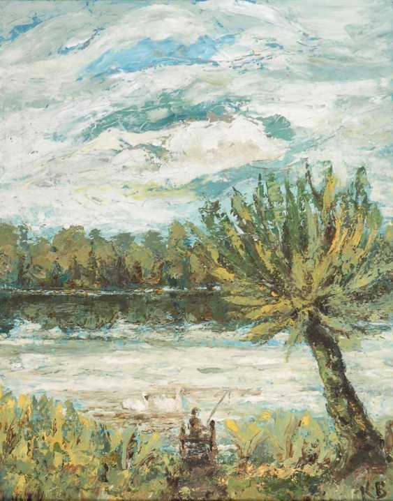 """Monogram mist """"KB"""": a river landscape. - photo 1"""