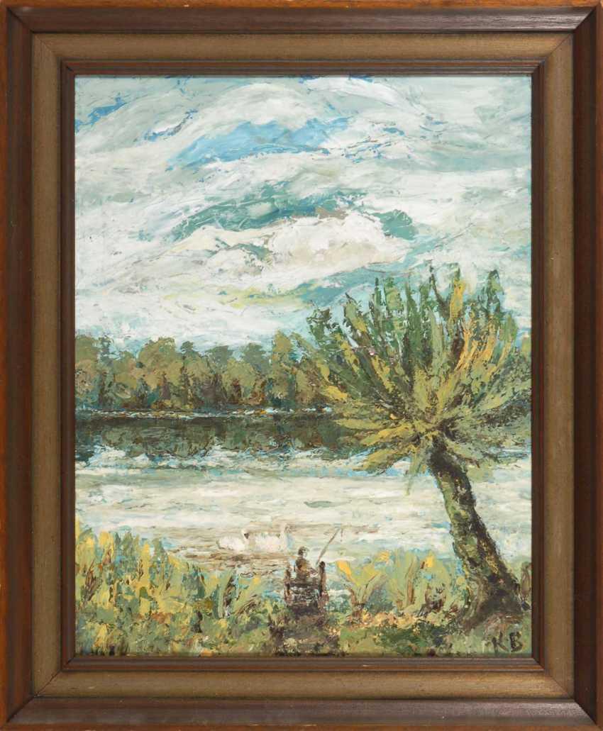 """Monogram mist """"KB"""": a river landscape. - photo 2"""