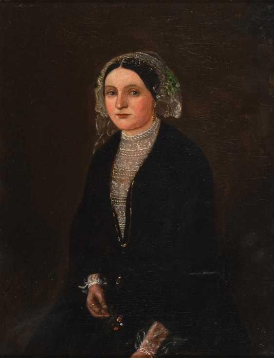 Moser?: Biedermeier's Portrait Of A Lady. - photo 1