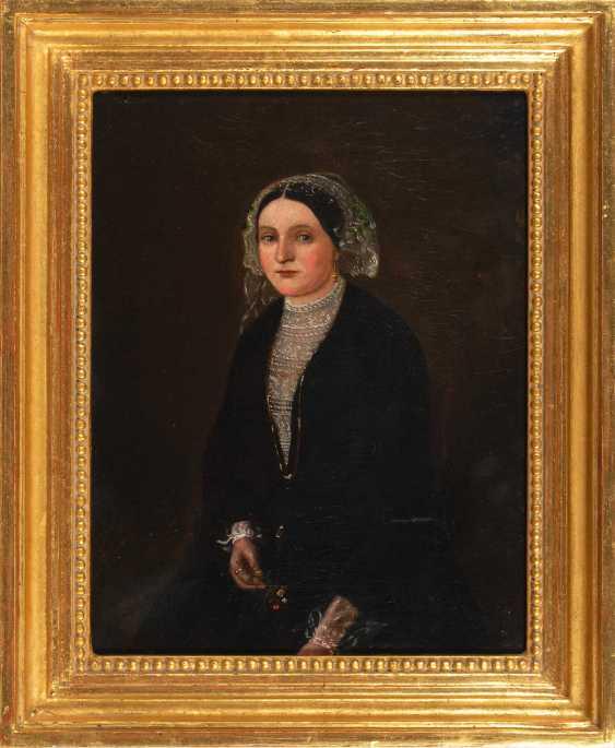 Moser?: Biedermeier's Portrait Of A Lady. - photo 2