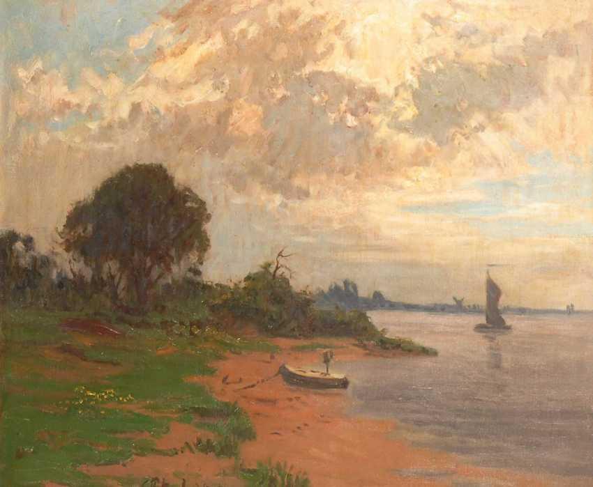 Petrich, ErnsTiefe: Strandansicht mit Schif - photo 1