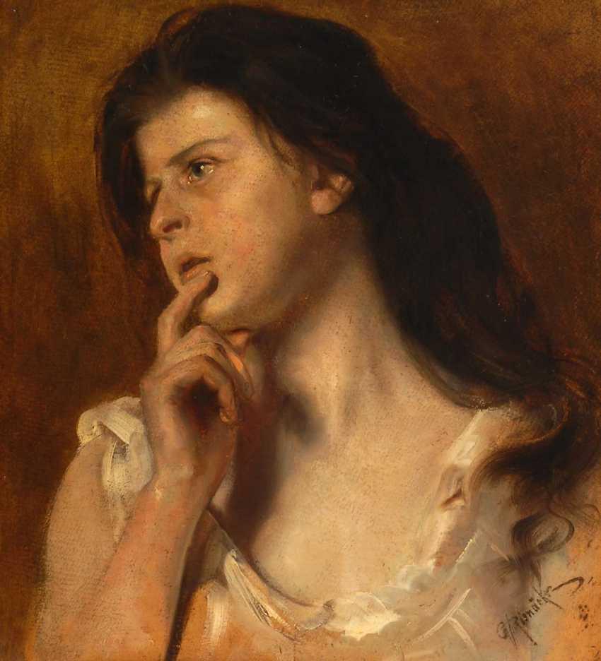 Rienäcker, Gustav: Girl Portrait. - photo 1