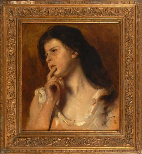 Rienäcker, Gustav: Girl Portrait. - photo 2