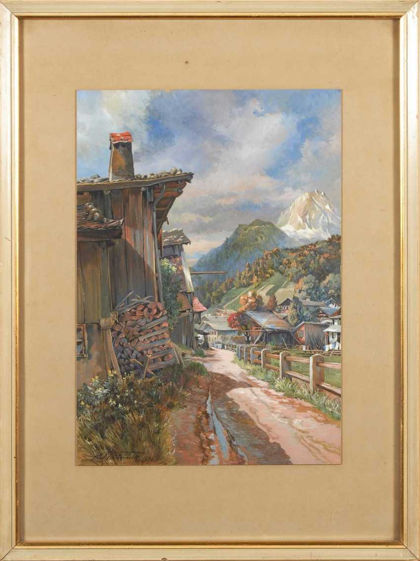 Schörnick, Paul: the village in the Alpine country. - photo 2