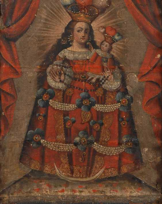 School of Cuzco: the altarpiece with Mary u - photo 1