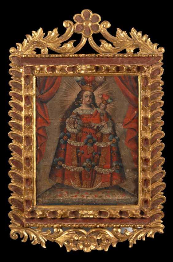 School of Cuzco: the altarpiece with Mary u - photo 2
