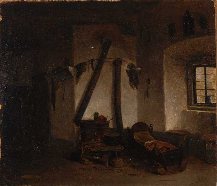 Seel, Adolf: living room corner with a cot - photo 1