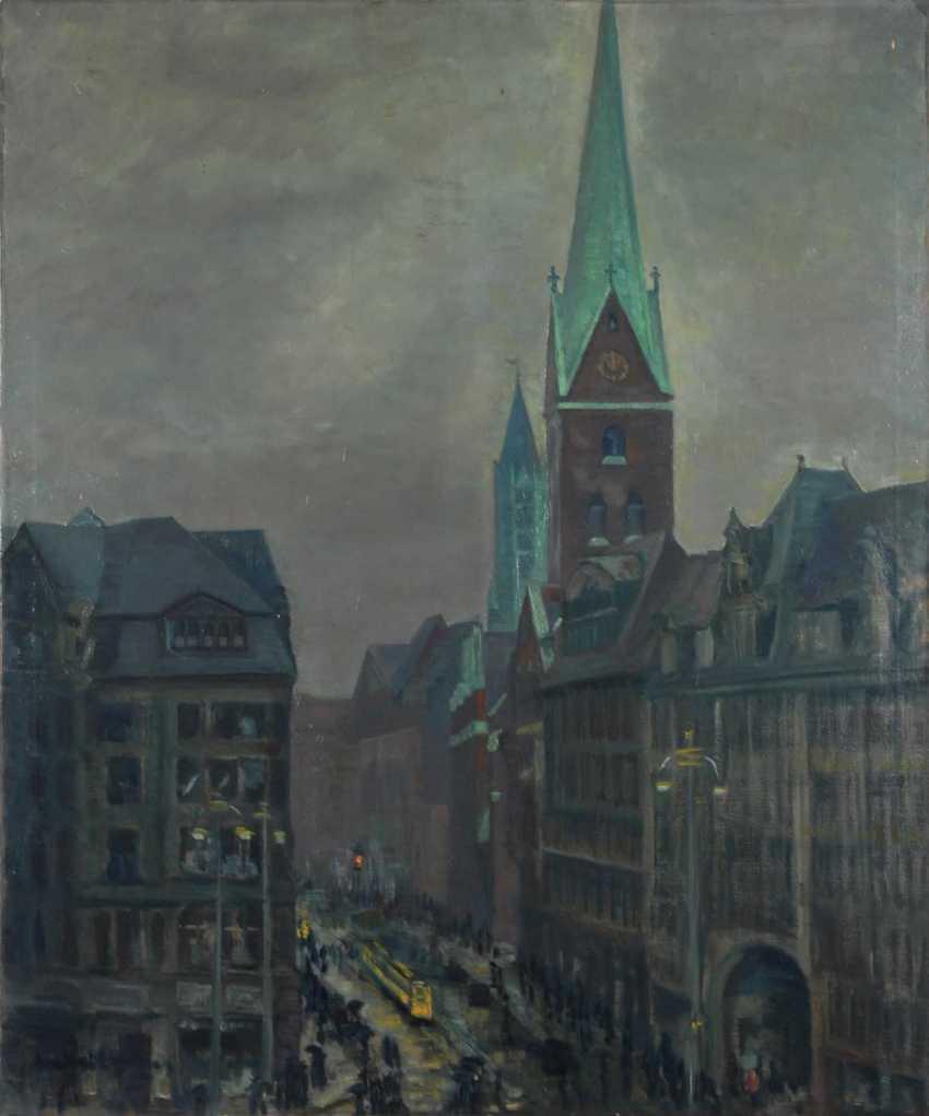 Undeutlich signierTiefe: Hamburg-Ansicht mi - photo 1
