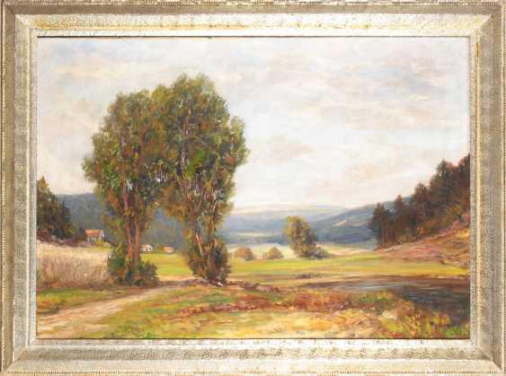 Undeutlich signierTiefe: Weite Landschaft. - photo 2
